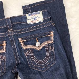 True Religion Jeans - True Religion Rose Gold Embroidered Boot Cut 24